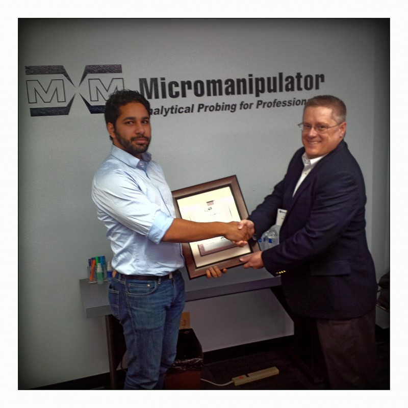 htt Group receives Award for Best Sales Force Worldwide for the Micromanipulator Company
