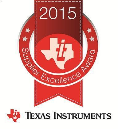Tesec received Texas instrument's highest level of supplier recognition